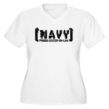 Proud NAVY SisNlaw - Tattered Style  T-Shirt