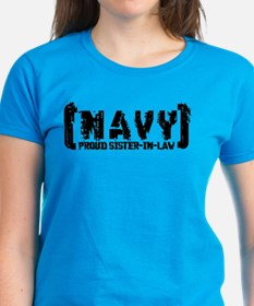 Proud NAVY SisNlaw - Tattered Style  Tee