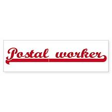Postal worker (sporty red) Bumper Bumper Sticker