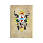 Tribal Cow Skull Rectangle Magnet