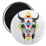 Tribal Cow Skull Magnet