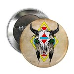 Tribal Cow Skull 2.25
