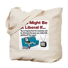 Liberal Couch-Surfing Revolution Tote Bag