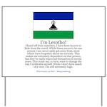 Lesotho Yard Sign