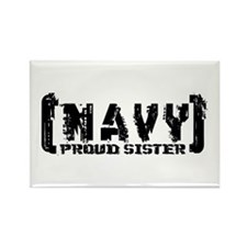 Proud NAVY Sis - Tattered Style Rectangle Magnet