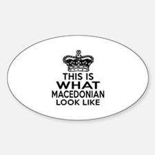 Macedonia Look Like Designs Sticker (Oval)
