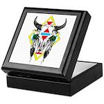 Tribal Cow Skull Keepsake Box