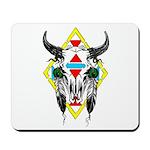 Tribal Cow Skull Mousepad