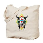 Tribal Cow Skull Tote Bag