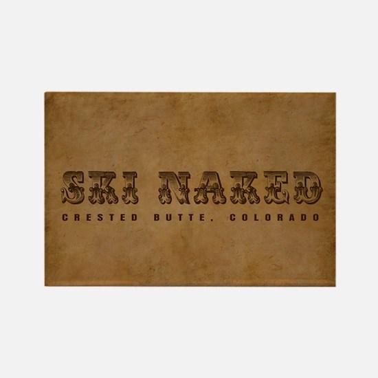 Crested Butte, Ski Naked Magnet Magnets