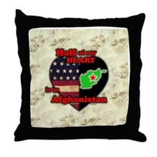 Afghanistan Throw Pillow
