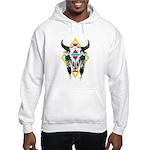 Tribal Cow Skull Hooded Sweatshirt