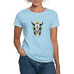 Tribal Cow Skull Women's Light T-Shirt