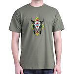 Tribal Cow Skull Dark T-Shirt