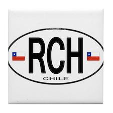 Chile Euro Oval Tile Coaster