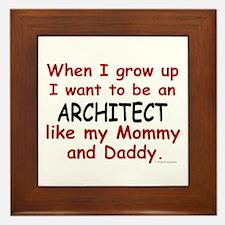 Architect (Like Mommy & Daddy) Framed Tile
