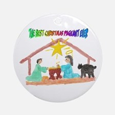 Christmas Pageant Manger Ornament (Round)