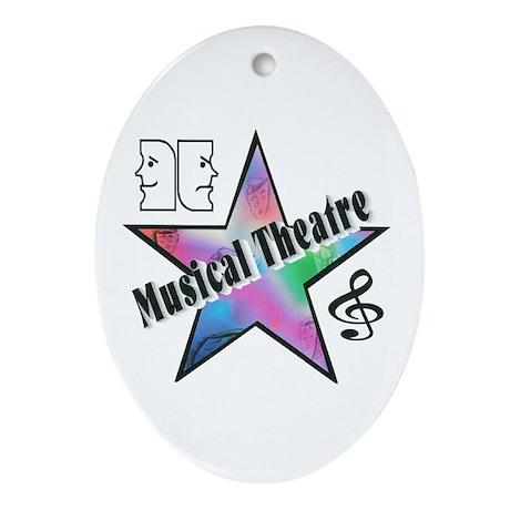 Musical Theatre Star Oval Ornament