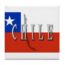 Chile Flag Extra Tile Coaster