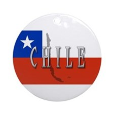 Chile Flag Extra Ornament (Round)