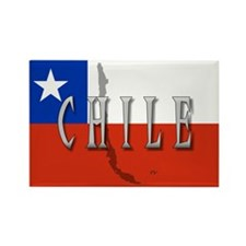 Chile Flag Extra Rectangle Magnet