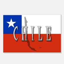 Chile Flag Extra Postcards (Package of 8)