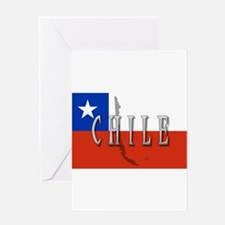 Chile Flag Extra Greeting Card
