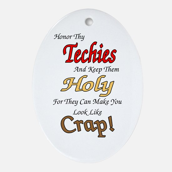 Holy Techies Oval Ornament
