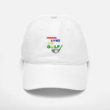 Abagail Lives for Golf - Baseball Baseball Cap
