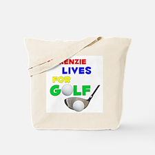 Mckenzie Lives for Golf - Tote Bag