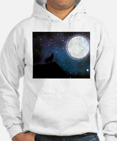 Wolf Howling at Moon Hoodie
