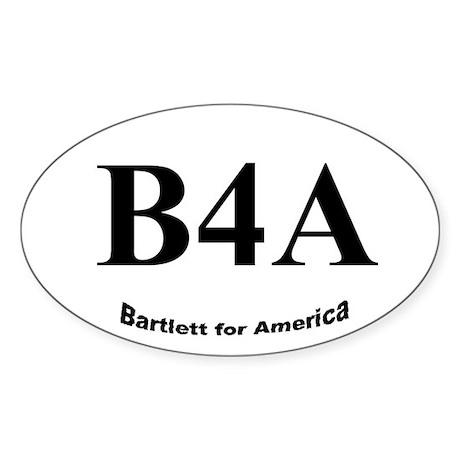 B4A Oval Sticker