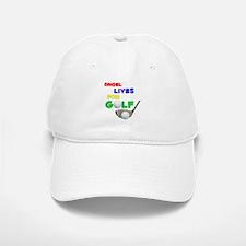 Angel Lives for Golf - Baseball Baseball Cap