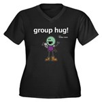 Thog: group hug! Women's Plus Size V-Neck Dark T-S