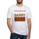 Barry Sucks Logo Fitted T-Shirt