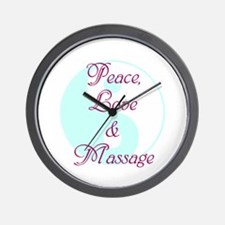 Peace, Love and Massage Wall Clock