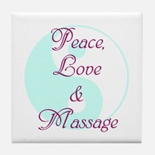 Peace, Love and Massage Tile Coaster