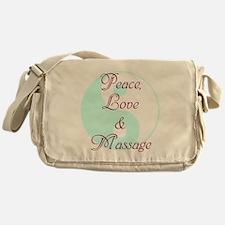 Peace, Love and Massage Messenger Bag