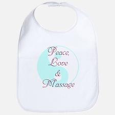 Peace, Love and Massage Bib