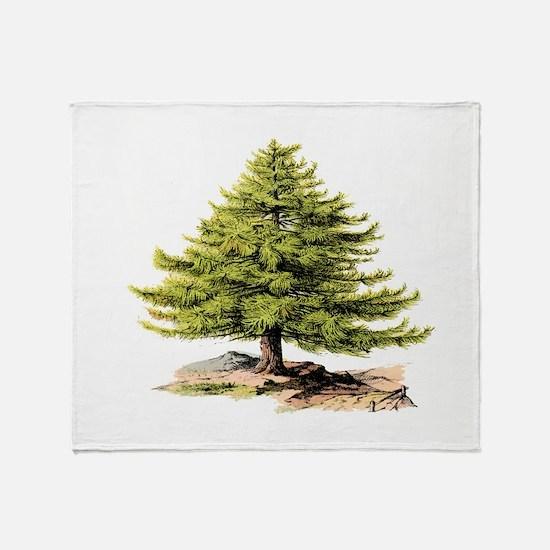 Vintage Pine Tree BM Throw Blanket