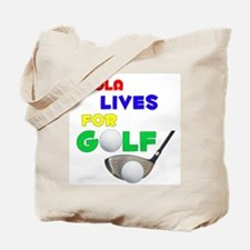 Paola Lives for Golf - Tote Bag