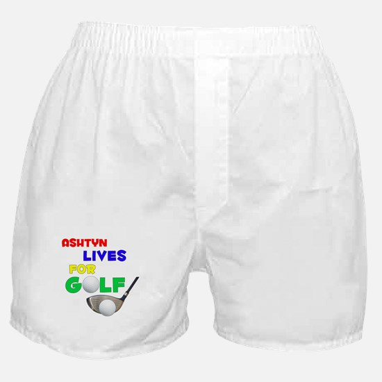 Ashtyn Lives for Golf - Boxer Shorts