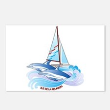Dolphin&yacht Postcards (Package of 8)