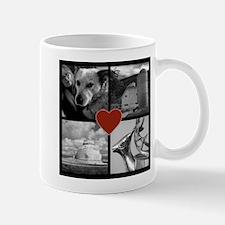 Photo Block with Heart Mugs