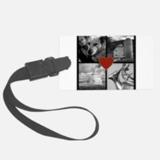 Photo Block with Heart Luggage Tag