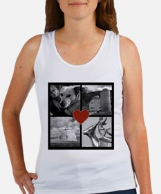 Photo Block with Heart Tank Top