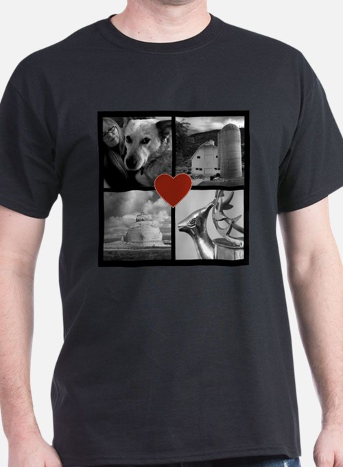 Photo Block with Heart T-Shirt