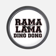 RAMALAMADINGDONG Wall Clock
