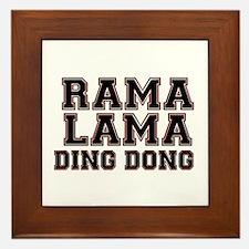 RAMALAMADINGDONG Framed Tile