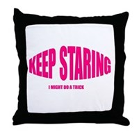 Keep Staring Throw Pillow